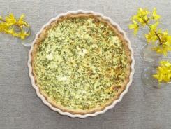 Bärlauch-Quiche-vegetarisch-Quiche-Lorrain