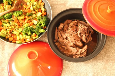 Pulled pork in der Tajine
