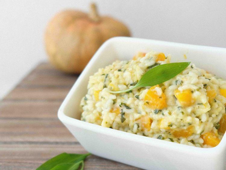 Bärlauch-Kürbis-Risotto-vegetarisch-sehr-gut