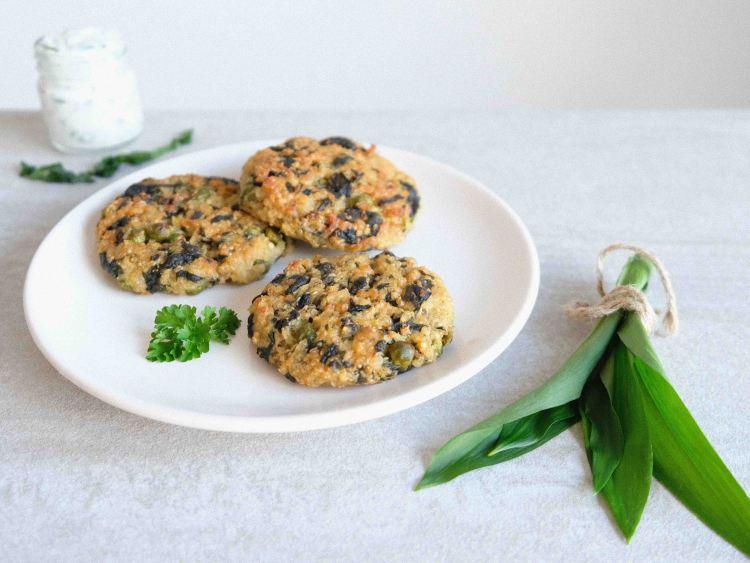 Bärlauch-Quinoa-Laibchen-schnell-gemacht