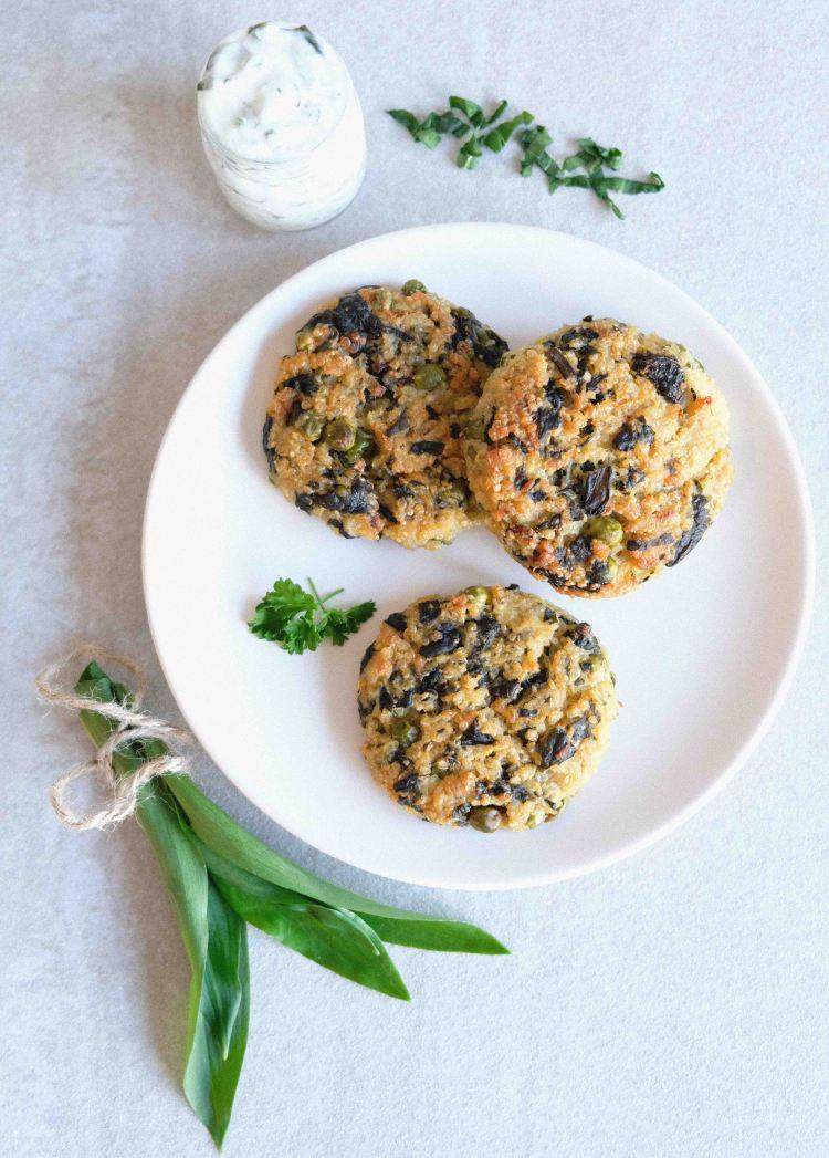 Bärlauch-Quinoa-Laibchen-vegan-schnell-gekocht